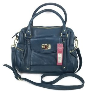 Merona Purse Bag Satchel Bluish Green